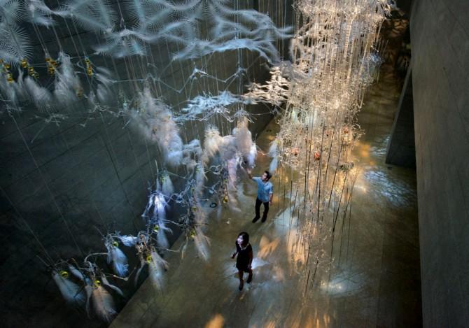 중국 필립 비슬리 건축설계사무소가 설계한 설치미술 전시 공간 '착생식물의 봄(Epiphyte Spring)'. - flickr 제공